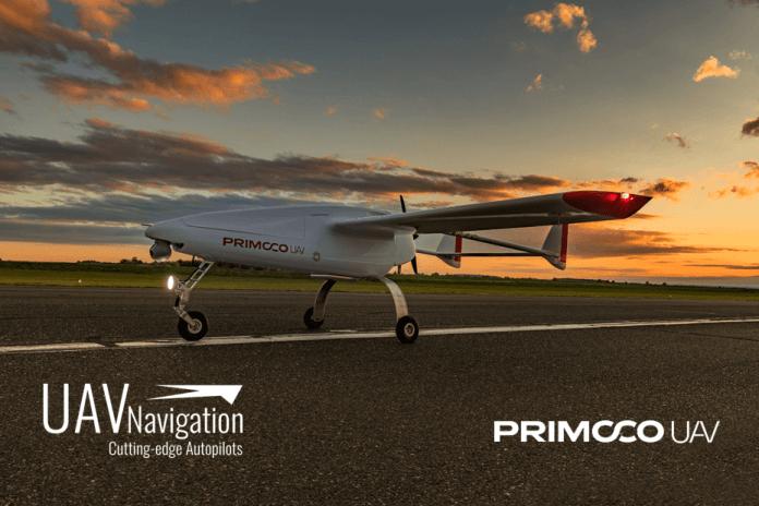 PRIMOCO UAV tests the newest model of UAV Navigations flight