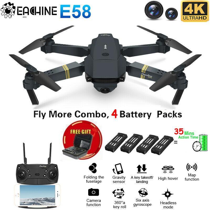 Eachine E58 2.4GHz RC Drone FPV Wifi 4K High definition