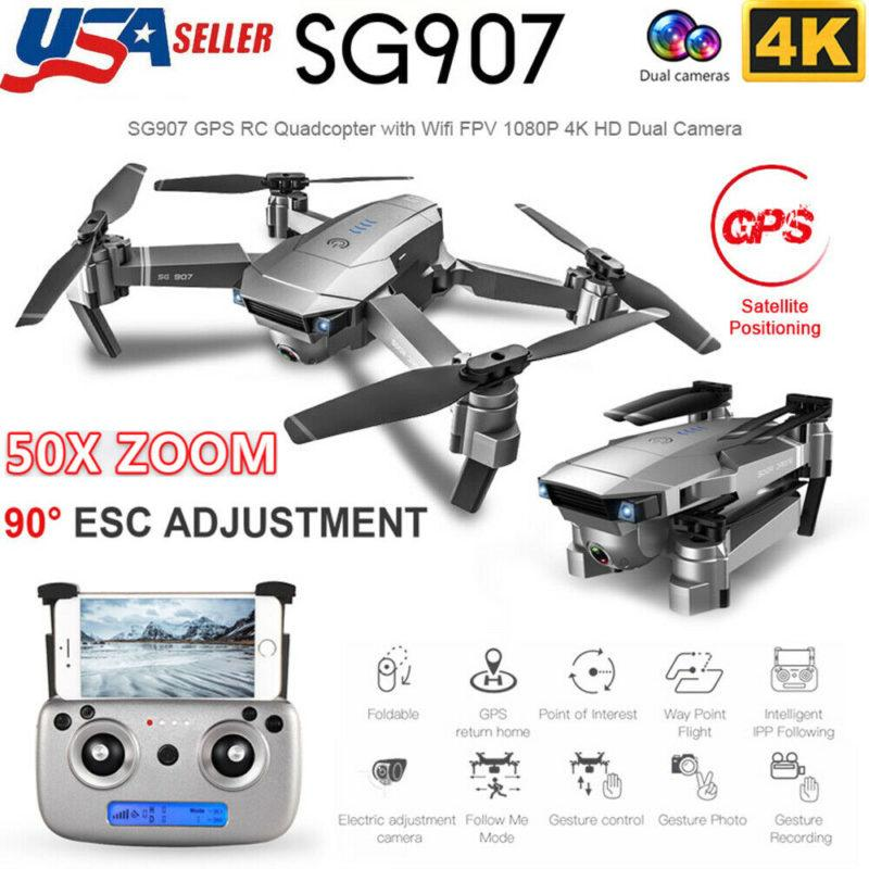 SG907 FPV Selfie Drone with 5G Wifi 1080P4K High definition