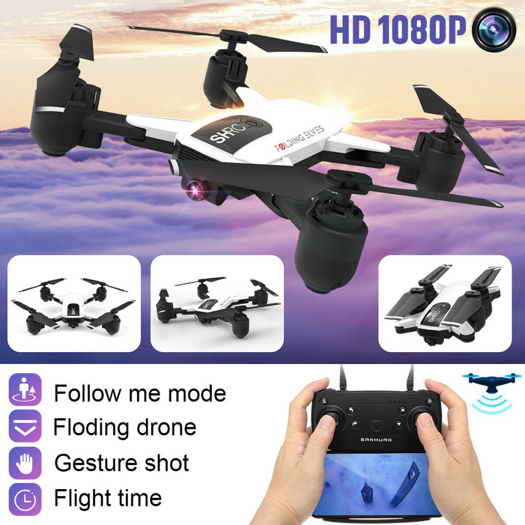 1080P Wifi RC High definition Digital camera Drone Adhere to