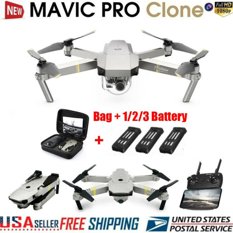 DJI Mavic Professional Platinum Clone Drone Wifi FPV 1080P Digicam