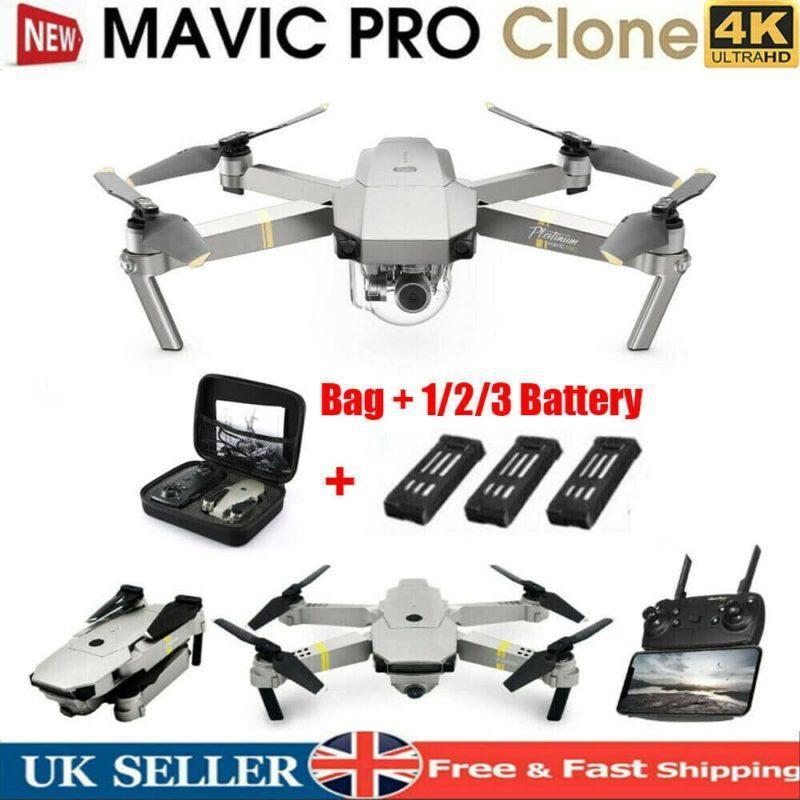 DJI Mavic Professional Platinum Clone Drone Wifi FPV 4K Hd