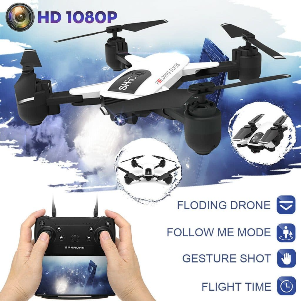 Foldable WIFI RC Drone With High definition 1080P Camera Selfie