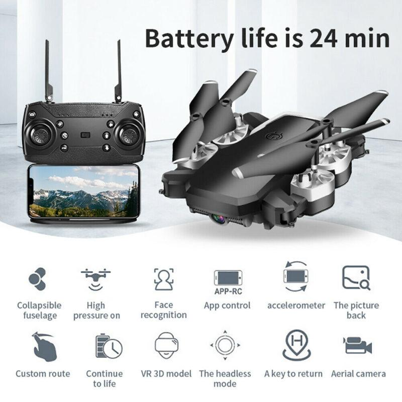 Drone X Pro Foldable Quadcopter WIFI FPV 1080P Wide Angle High